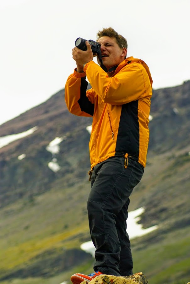 Me shooting photography in Glacier National Park, Montana